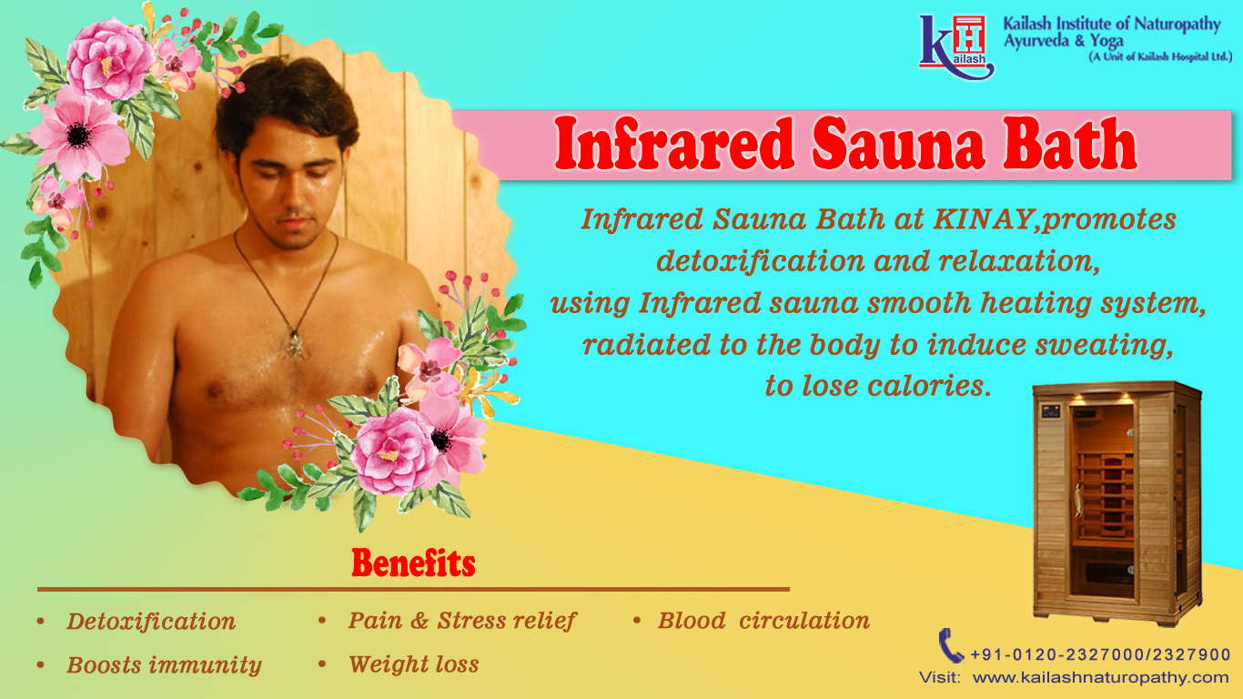 Experience best detoxification while losing calories with Infrared Sauna Bath at KINAY