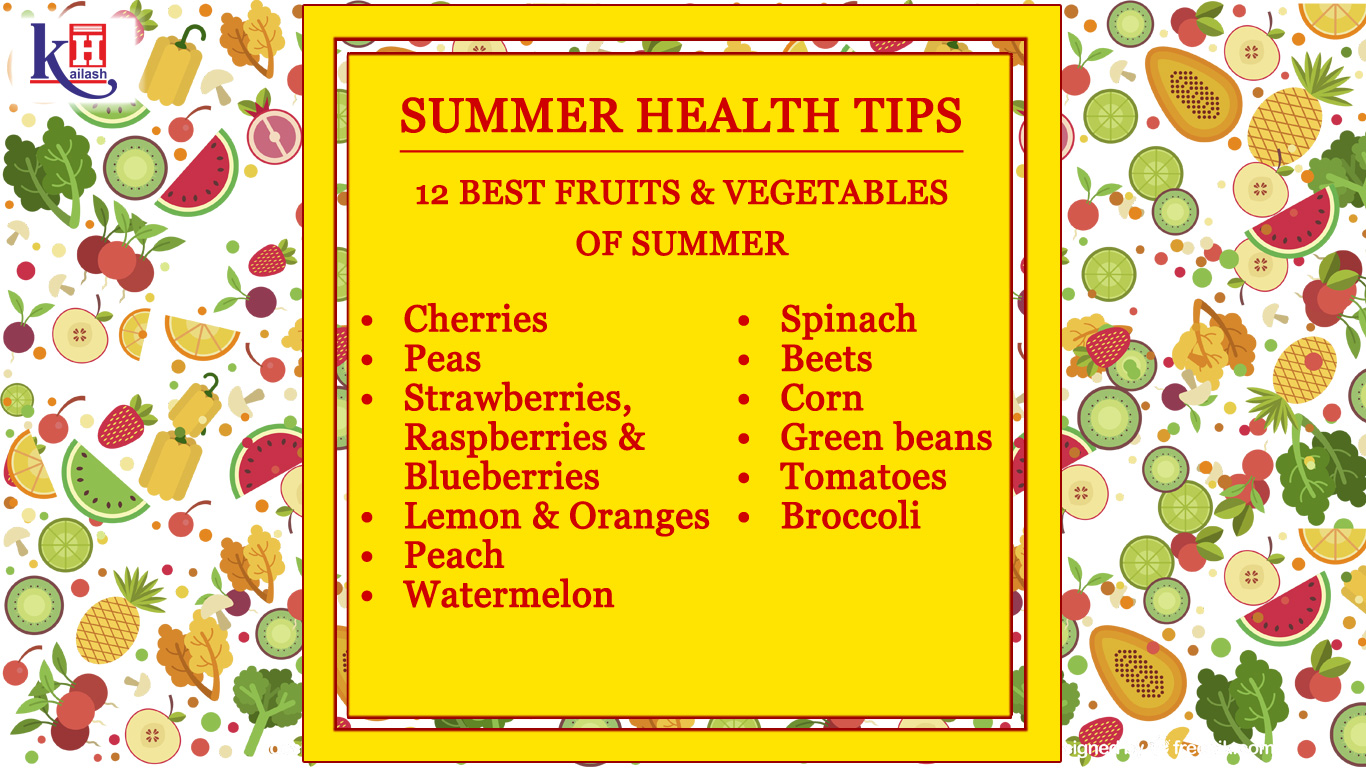 These 12 Fruits & Vegetables will make Your Summer Healthy