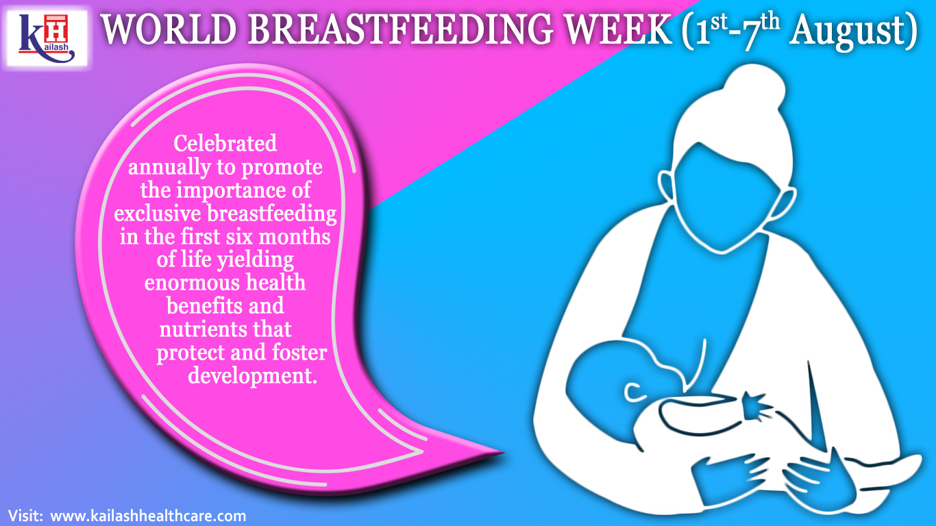 World Breastfeeding Week is celebrated every year from 1st to 7th August all over the globe to encourage breastfeeding and improve the health of babies around the world.