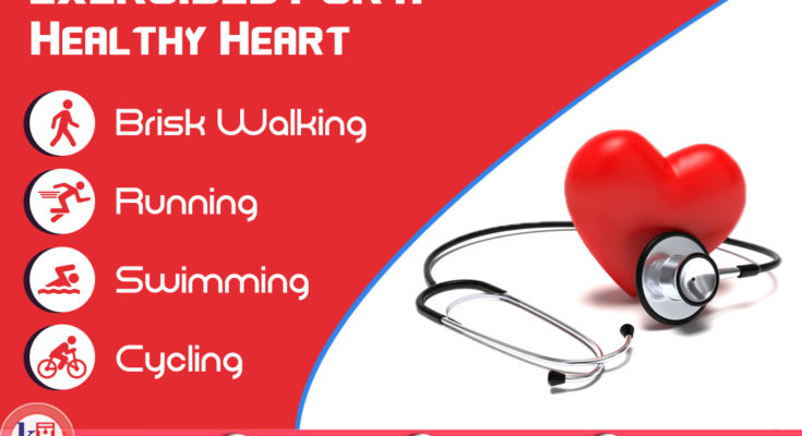 Mild Exercises done regularly keeps your Heart Healthy.