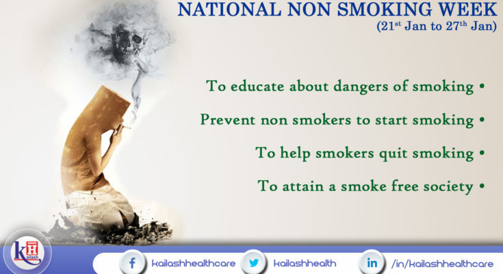 Reasons that denote the importance of Non smoking week..