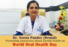 Dr. Neena Pandey encourages the importance of Good Oral Health by an impressive speech.