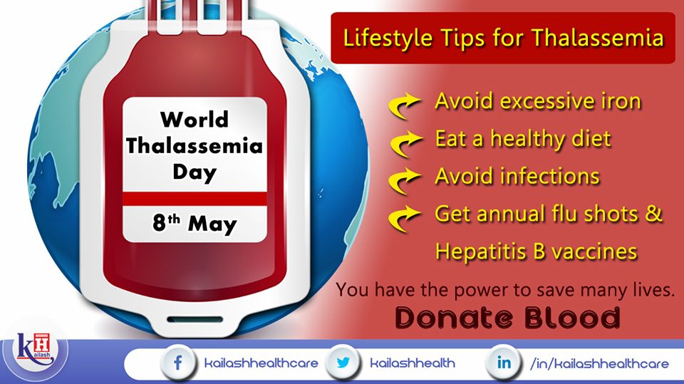 Help people with these vital tips for better management of lifestyle with Thalassemia.