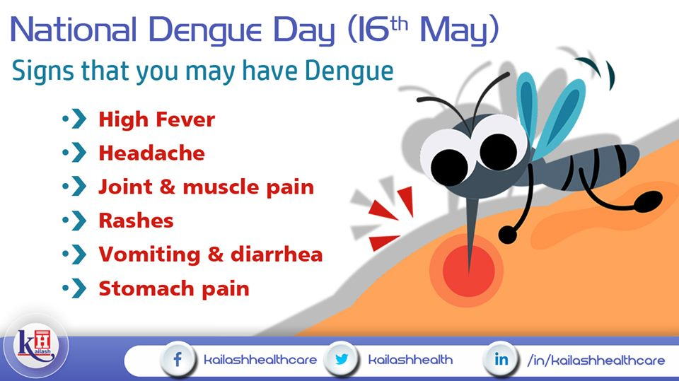 If you see any of these signs, get tested immediately. You may have been hit by Dengue!