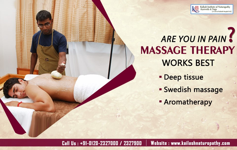 Massage Therapy can work best for all Body pains & relieve all Chronic Joint Pains. Visit KINAY for natural treatments.