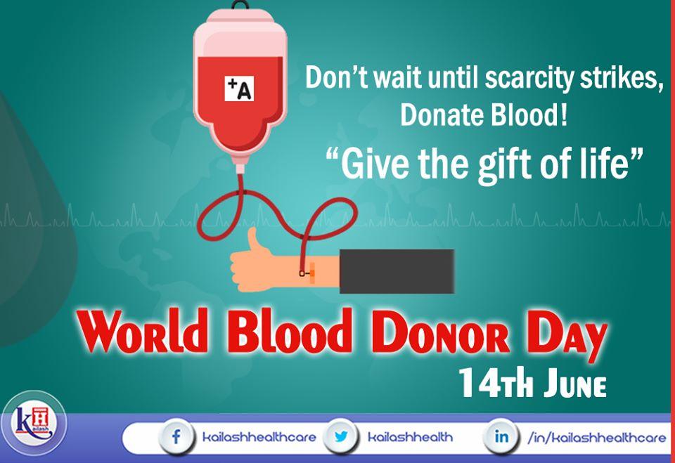 Blood donation is a noble deed to save lives. Donate blood & give the Gift of Life!