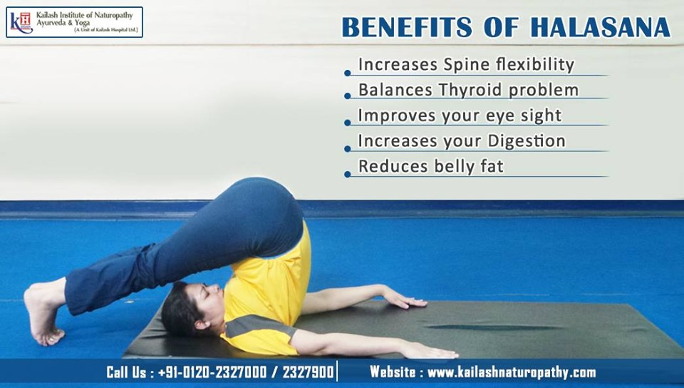 Halasana relieves Thyroid problem & improves Digestion effectively