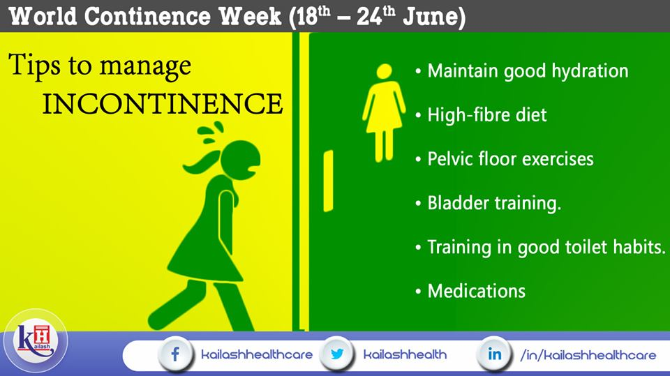 If you have Incontinence, here are some healthy tips to manage your condition & stay dry.
