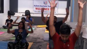 Kailash Charitable Trust organized a free Yoga Health Session at BCMS. Advant Navis Business Park, Plot no. -7, Sector- 142, Noida - 201305