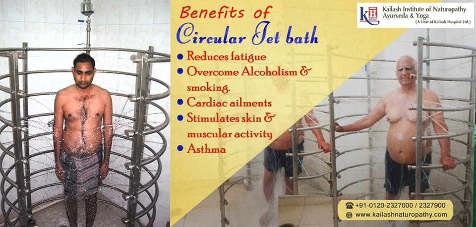 Naturopathy therapy, Circular Jet Bath is effective for reducing fatigue & muscular stress naturally.