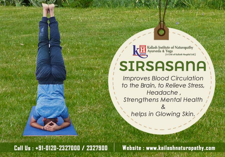 Sirsasana ensures complete oxygenated blood circulation to the brain to strengthen mental health.