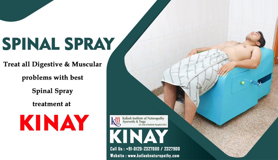 Spinal Spray Treatment at KINAY helps relieve Digestive, Kidney, Bladder & Menstrual disorders.