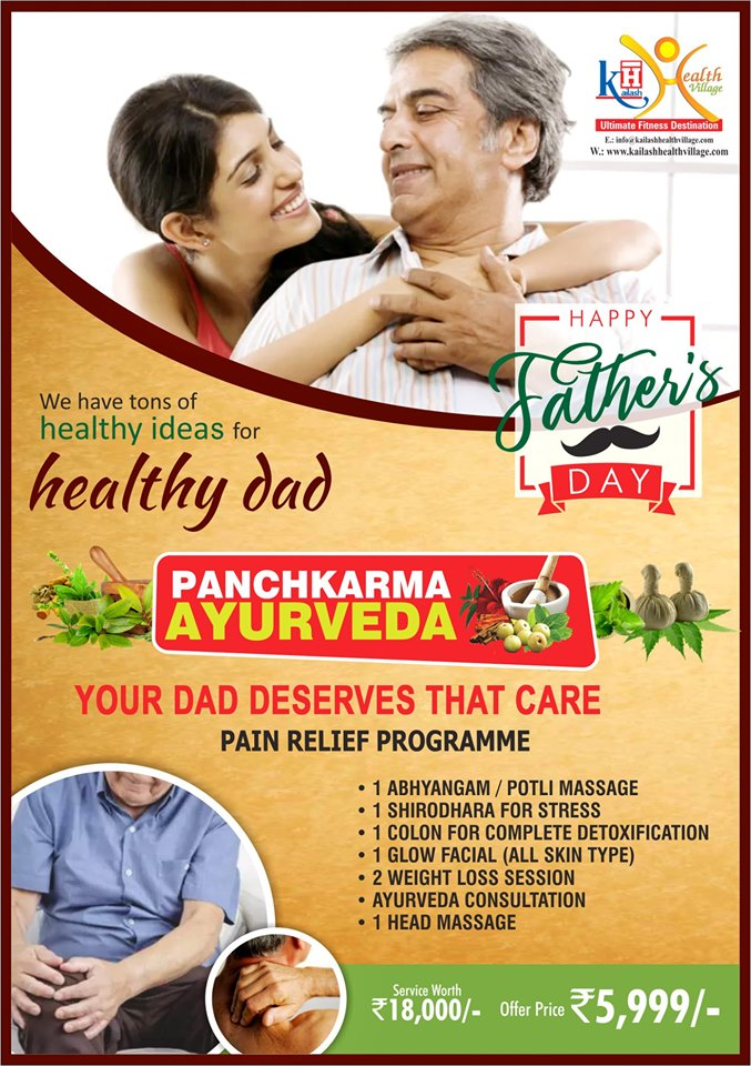 This Father's Day, gift your Dad a pain-free & healthy life with our Natural Wellness Packages.