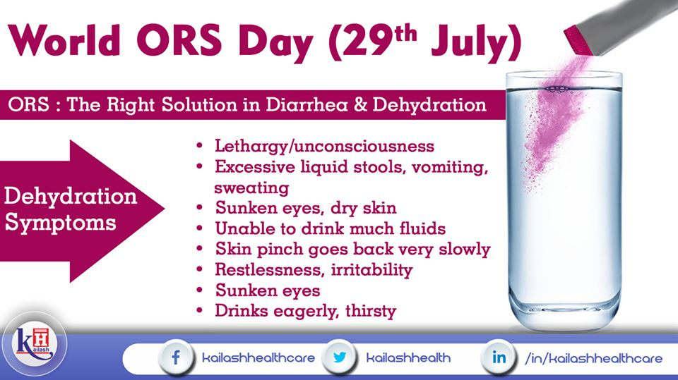ORS is the right accessible WHO-proven solution to treat Diarrhea & Dehydration.