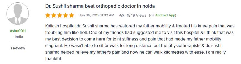 Dr. Sushil sharma best orthopedic doctor in noida