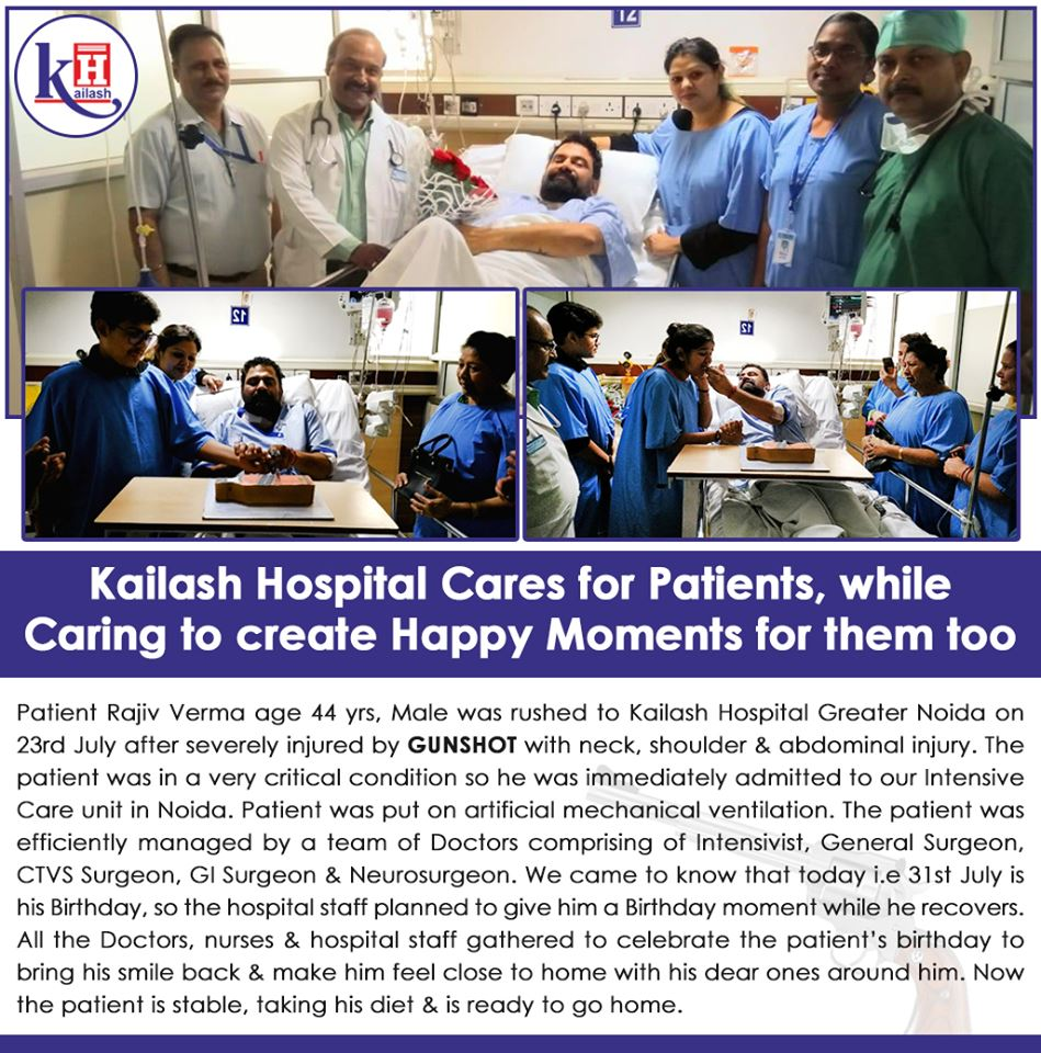 Kailash Hospital Cares For Patients, While Caring to Create Happy Moments For Them Too