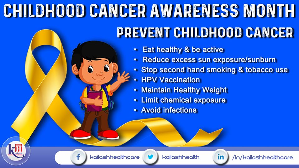 Help your children follow healthy habits & take nutritious diet to prevent Childhood Cancer.