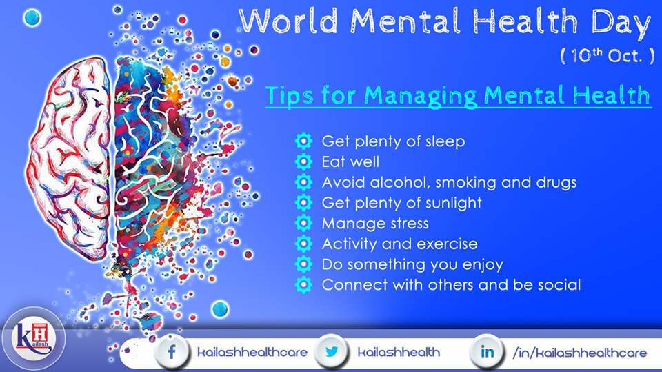 Adopt healthy lifestyle tips to manage Good Mental Health. Reduce stress & follow these helpful tips.