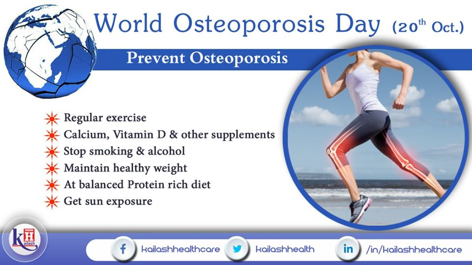 Osteoporosis reduces the quality & density of bones making them weak. Here are some vital Tips to prevent Osteoporosis.