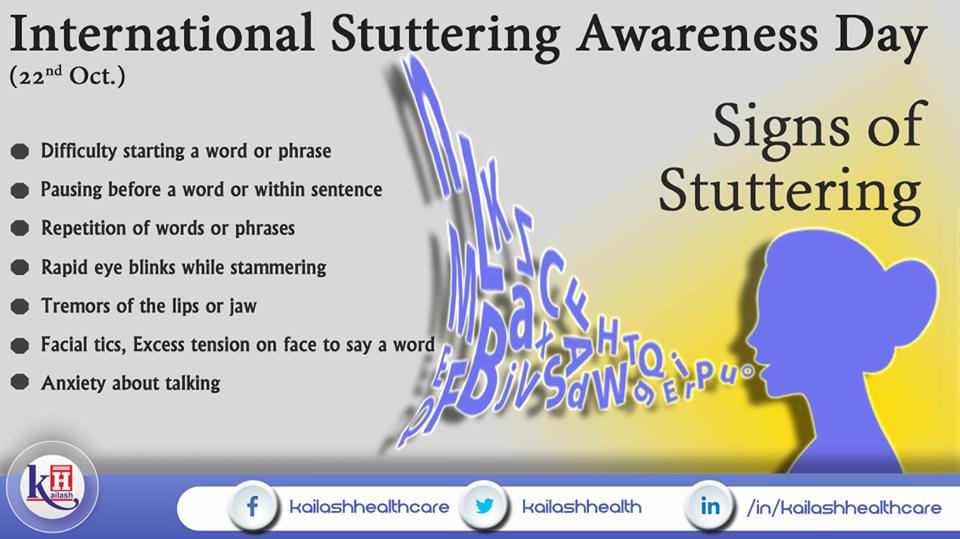 Stuttering indicates repetitive words & blinking eyes in nervousness. It is treatable effectively with Speech therapy