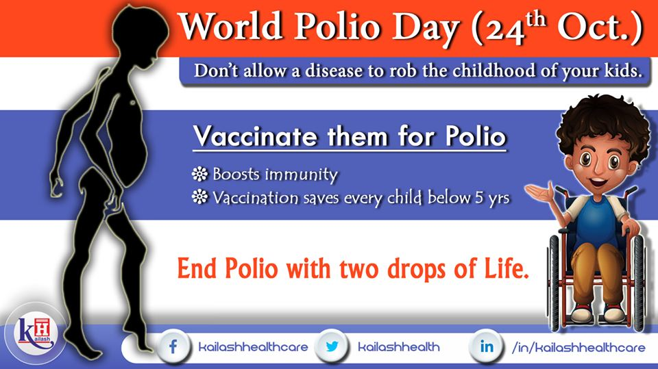 Vaccinate every child below 5 yrs with Polio drops to eradicate the disease & save their childhood.