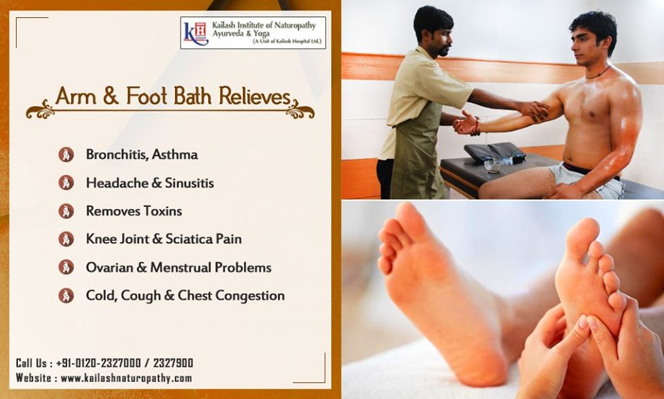 Naturopathy Arm & Foot Bath relieves respiratory diseases, congestion & Joint problems.