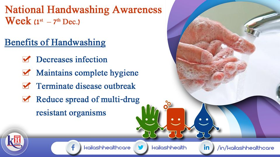 Hand washing not only maintains hygiene but prevents infection & disease to spread.