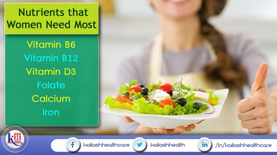 Women need to include these essential nutrients in their daily diet.
