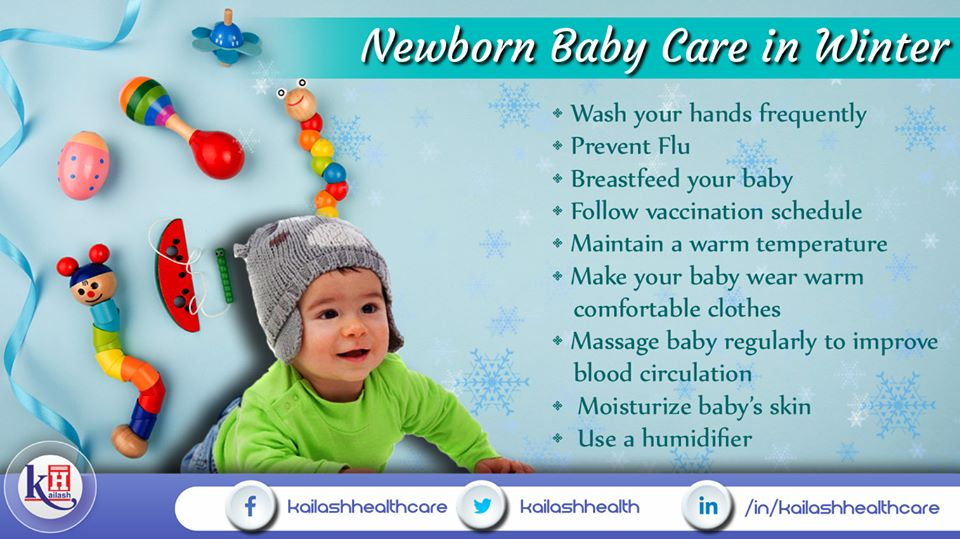 Caring for your Newborn is essential in this winter with these healthy tips.