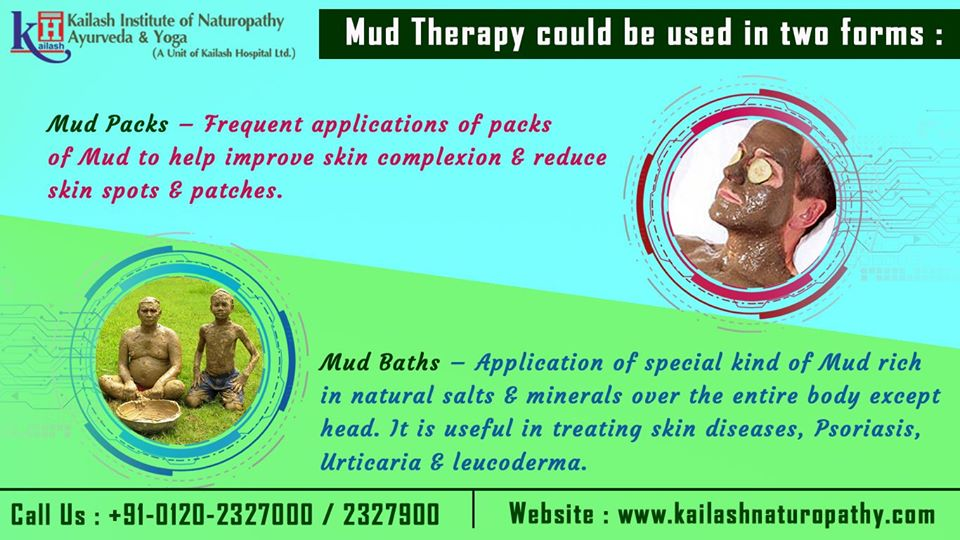 Mud Therapy applied either as pack or baths help in body detoxification & treating skin diseases.