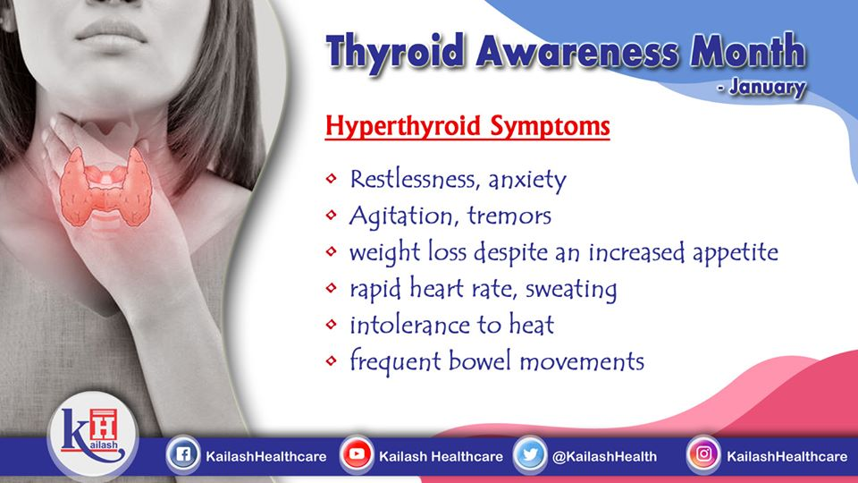 Experiencing rapid heart rate & tremors? They indicate Hyperthyroidism.