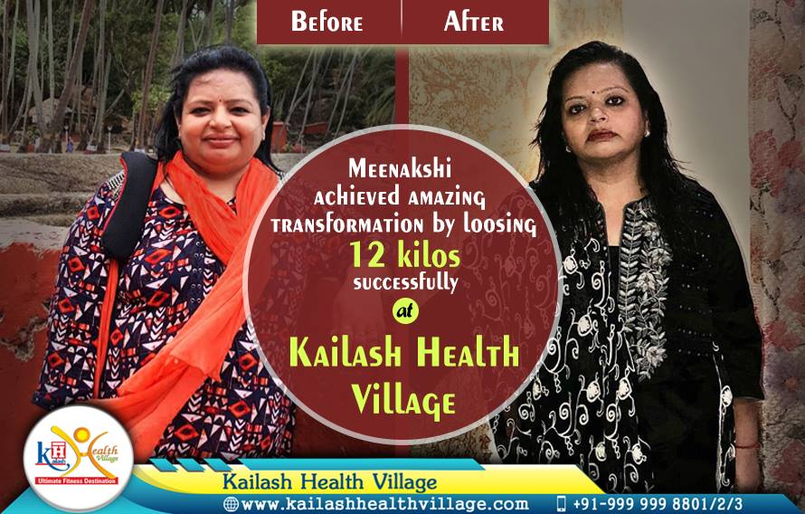 Meenakshi Achieved Amazing Transformation at Kailash Health Village