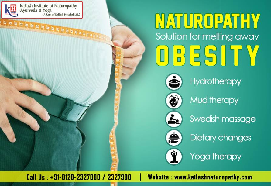 Melt away those extra fats with Naturopathy therapies, having no side effects.