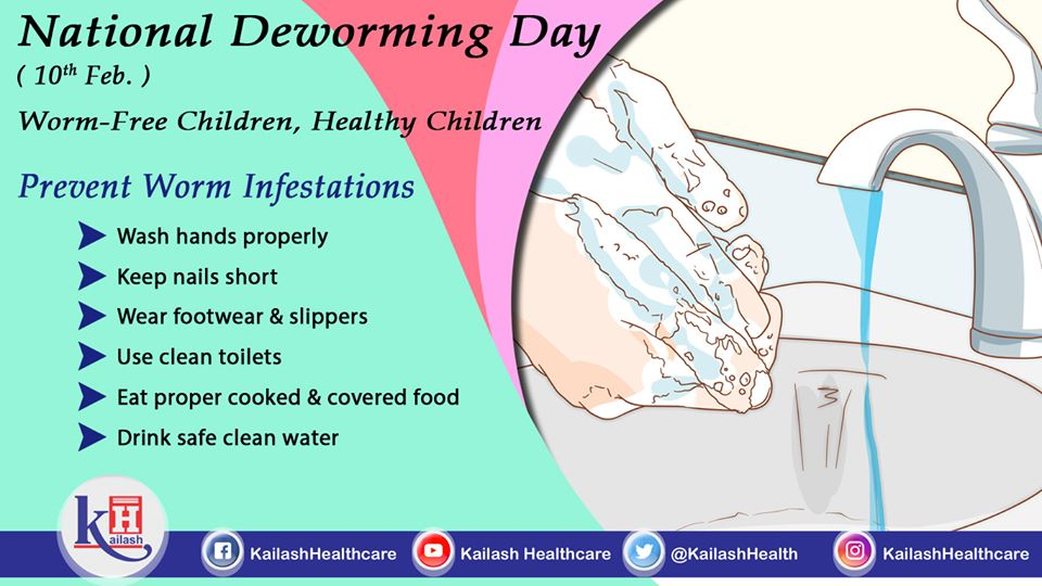 Best way to keep children Dewormed is to prevent Worm infections through maintaining hygiene.