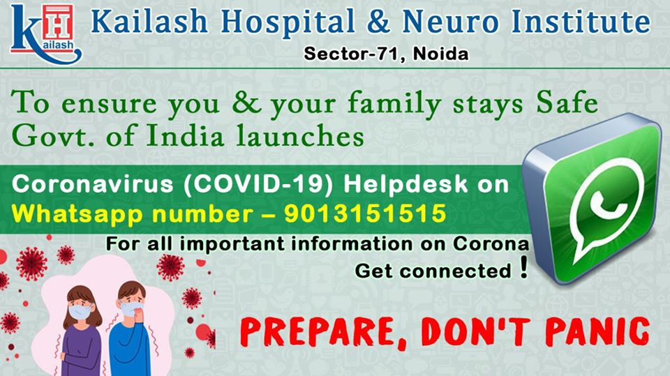 Get the most Credible information on Corona outbreak, through Whatsapp no. launched by Govt. of India as Covid-19 Helpdesk.
