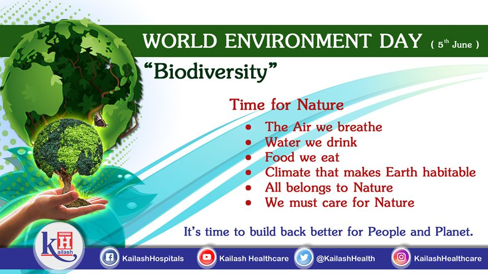 Biodiversity is important for habitat of everyone. On World Environment Day, let's pledge to build back for our Nature & Planet Earth.