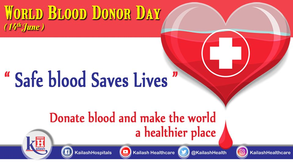 The day commemorates the contribution of generous Blood Donors & their efforts for Safe Blood Donation to save lives.