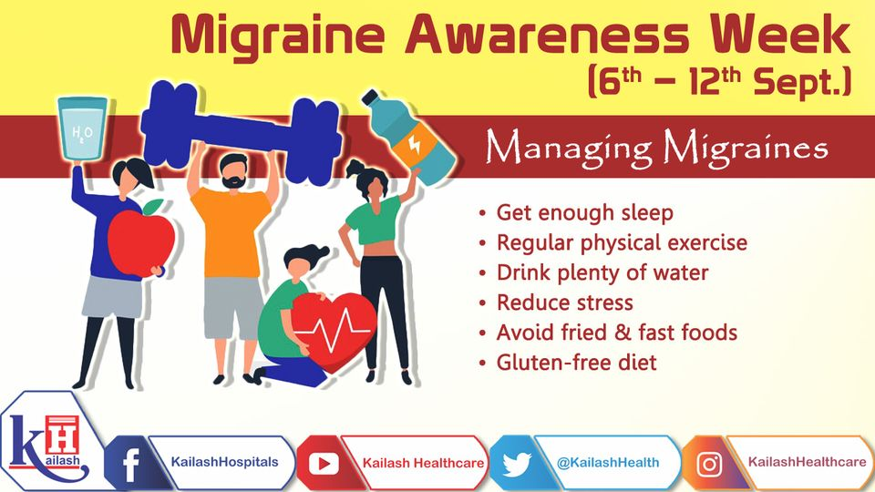 Migraine can be well managed through healthy lifestyle habits. Consult our Specialists for any related discomfort.