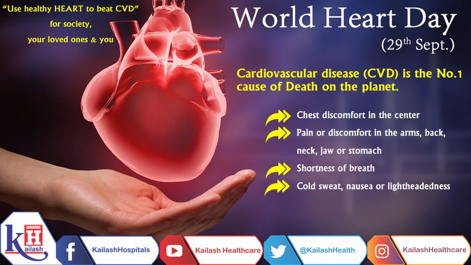 On World Heart Day, promise yourself to keep your heart healthy & beat all types of Cardiovascular diseases.