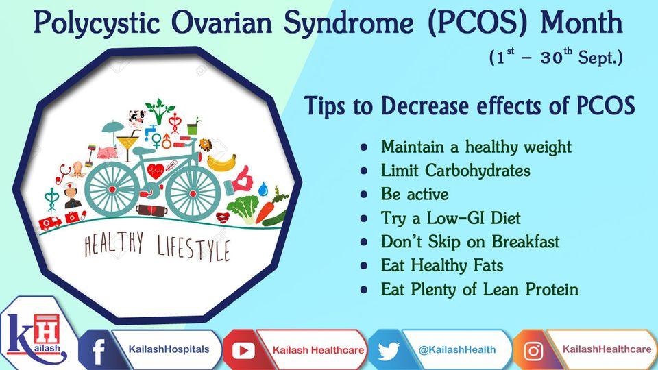 PCOS is a hormonal disorder & can be well managed through a healthy lifestyle & a balanced diet. Here are some tips.