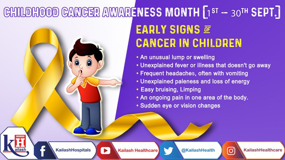 Paediatric Cancer symptoms can be very similar to those of other childhood illnesses varying between children. Know the early signs.