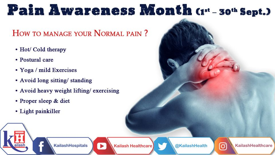 There are various natural & therapeutic ways to manage normal pain