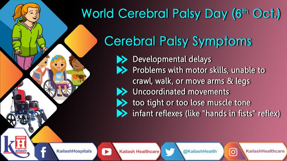 Signs of Cerebral Palsy usually appear in the first few months of life, but many children are not diagnosed until age 2 or later.