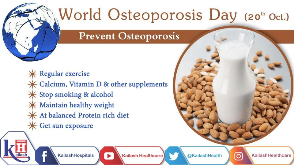 Healthy lifestyle & a protein rich diet plays an important role in preventing Osteoporosis