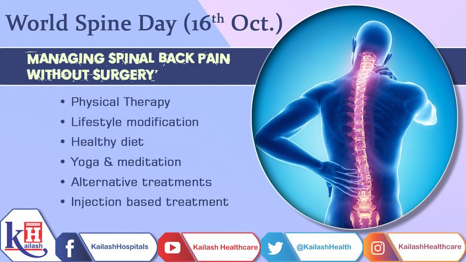 Other than complex spine problems, back pain can be well managed through physiotherapy & other pain management therapies.