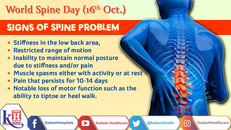 Persistent back pain & stiffness can indicate a Spine problem needing immediate treatment