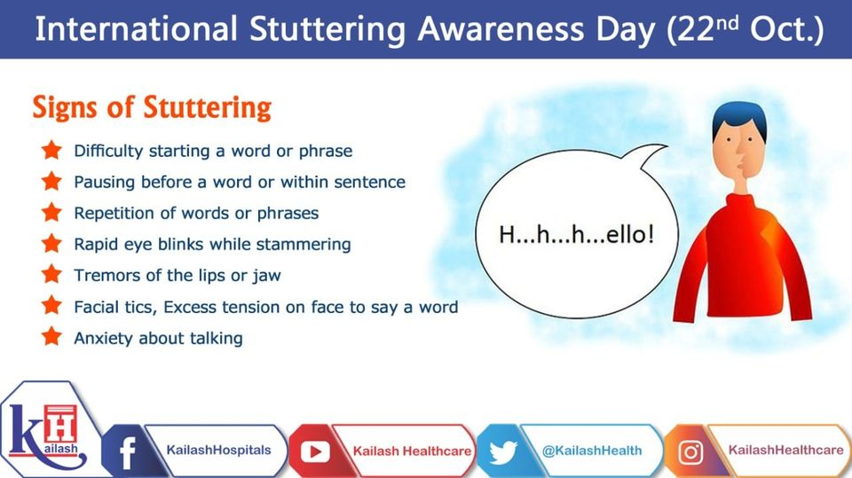 Stuttering is not a disability but a speech disorder involving problems with normal fluency and flow of speech.