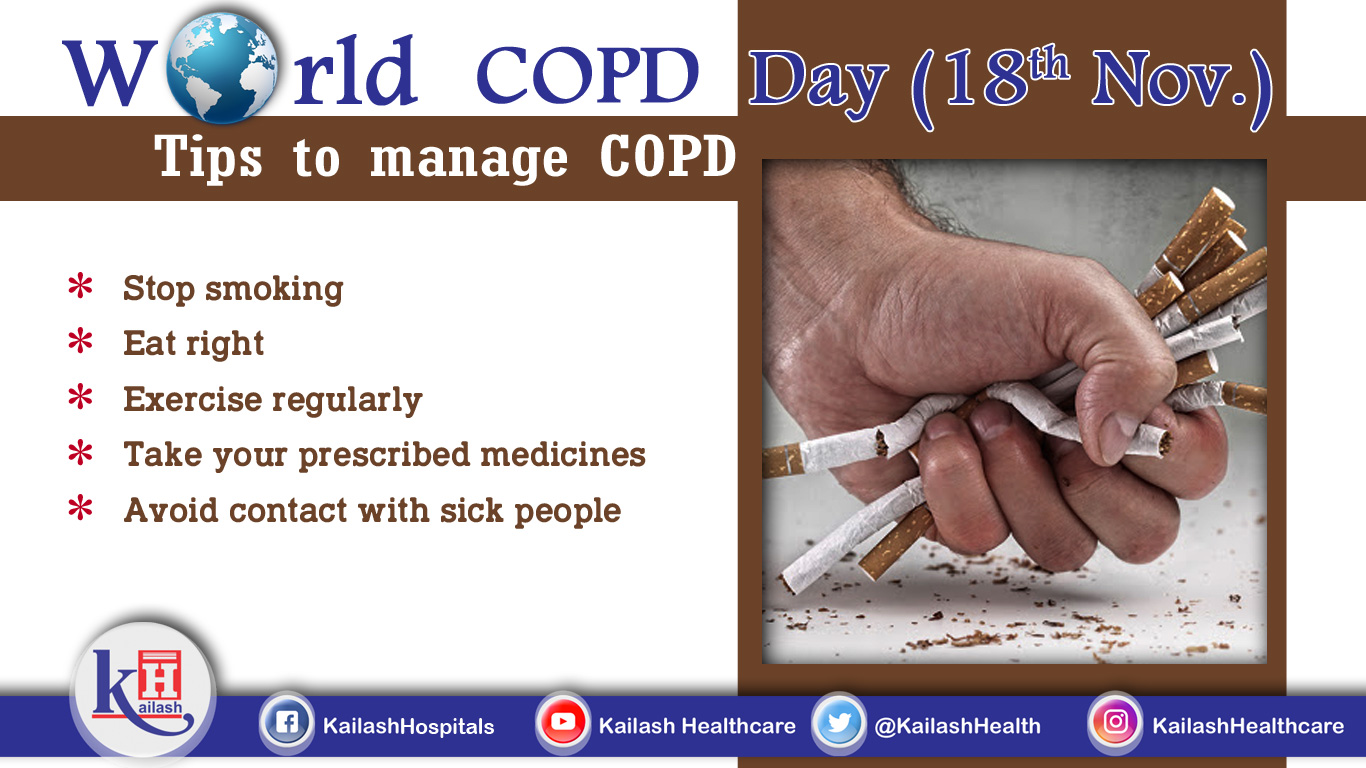 Smoking can deteriorate Pulmonary & respiratory problems. COPD is manageable with the right diet, exercise & lifestyle