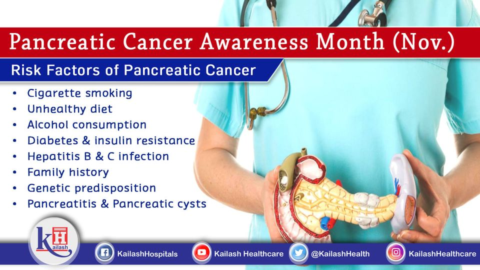 Smoking, Unhealthy lifestyle & eating habits can lead you to Pancreatic Cancer.