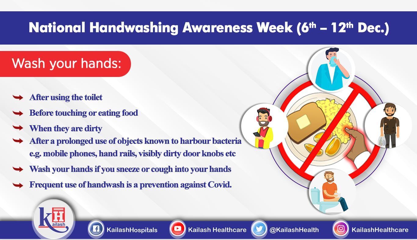Just washing hands before eating is not enough, maintaining hand hygiene at regular intervals is important.